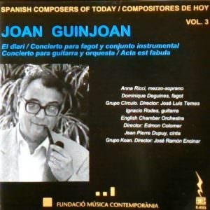 Joan Guinjoan, Spanish Composers of today Vol. 3